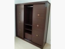 [8成新] 二手胡桃色6尺推門大衣櫃衣櫃/衣櫥有輕微破損