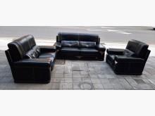 [8成新] 黑色半牛皮沙發組多件沙發組有輕微破損