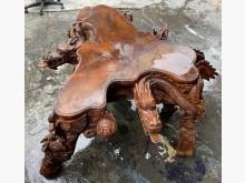 [7成新及以下] 三合二手物流(花梨木雕刻桌)桌子有明顯破損