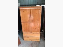 [9成新] 松木色兩抽單人衣櫃衣櫃/衣櫥無破損有使用痕跡