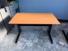 [全新] CD木紋黑腳120cm辦公桌辦公桌全新