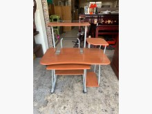 [9成新] 簡易型110cm 柚木色電腦桌電腦桌/椅無破損有使用痕跡
