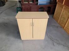 [9成新] 白橡色雙門四層鞋櫃H03693鞋櫃無破損有使用痕跡