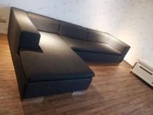 [9成新] 進口義大利設計師款L型亞麻布沙發L型沙發無破損有使用痕跡