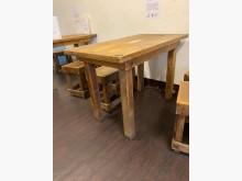 [8成新] 餐廳用實木餐桌椅(非貼皮)共6組餐桌椅組有輕微破損