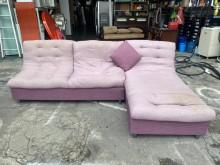 [7成新及以下] 紫色布面L型沙發*貴妃椅*多件沙發組有明顯破損