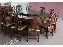 [9成新] 高級紫檀餐桌椅餐桌無破損有使用痕跡