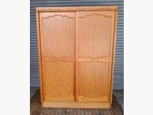 [8成新] 原木五尺滑門衣櫃衣櫃/衣櫥有輕微破損