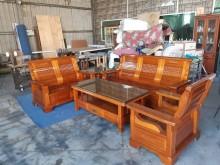 [8成新] 八成新原木實木沙發組木製沙發有輕微破損
