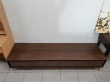 [9成新] 九成新胡桃木心板二抽電視櫃電視櫃無破損有使用痕跡