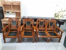 [9成新] 老件原木實木大理石木沙發木製沙發無破損有使用痕跡
