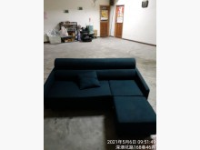 [8成新] 搬家藍色布沙發便宜賣L型沙發有輕微破損