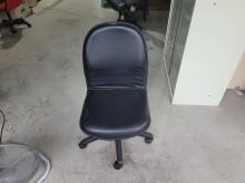 [9成新] 黑皮升降電腦椅H03711電腦桌/椅無破損有使用痕跡