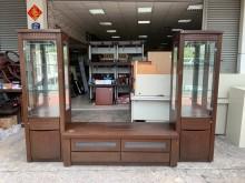[7成新及以下] 貴族胡桃木9.3尺 高低電視酒櫃高低櫃有明顯破損