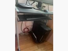 [8成新] 黑色電腦桌 附抽拉式鍵盤放置盤電腦桌/椅有輕微破損