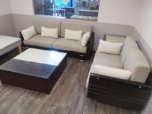 [9成新] 冬暖夏涼2+3亞麻布沙發 可拆洗多件沙發組無破損有使用痕跡