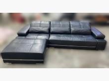 [8成新] B51413黑色L型半牛皮沙發L型沙發有輕微破損