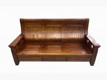 [8成新] A42901實木樟木3人坐木沙發木製沙發有輕微破損