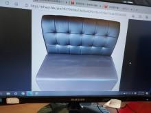 [9成新] 無扶手雙人沙發雙人沙發無破損有使用痕跡