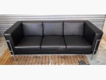 [8成新] 三人座牛皮沙發雙人沙發有輕微破損