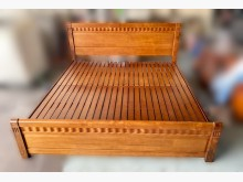 [9成新] B5235*實木6尺床架雙人床架無破損有使用痕跡