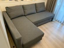 [9成新] 9成新轉角沙發床附收納空間L型沙發無破損有使用痕跡