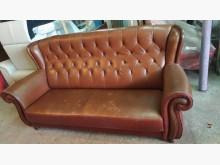 [9成新] 古典三人座皮沙發雙人沙發無破損有使用痕跡