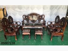 [9成新] 05007110 黑檀九件組椅子無破損有使用痕跡