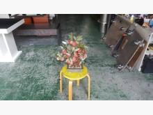 合運二手傢俱~玉石紅桃盆栽裝飾品收藏擺飾有輕微破損