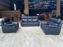[全新] 新品黑皮仿牛皮獨立筒沙發組多件沙發組全新