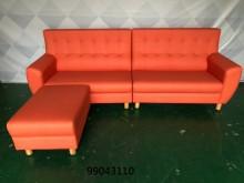 [全新] 99043110橘色貓抓L型沙發L型沙發全新