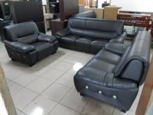 [9成新] 八成新獨立透氣皮咖啡色沙發組多件沙發組無破損有使用痕跡