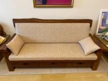 [95成新] 實木1+2+3 整組/附訂做椅墊木製沙發近乎全新
