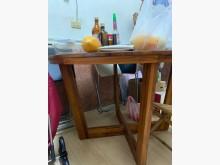 [9成新] 詩肯柚木 圓桌武士餐桌無破損有使用痕跡