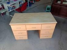 [9成新] 木紋7抽書桌H03791書桌/椅無破損有使用痕跡