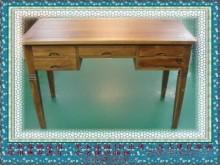 [全新] 全新柚木書桌 5抽實木書桌書桌/椅全新
