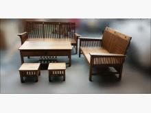 [全新] 全新實木柚木沙發組 2+3+茶几木製沙發全新