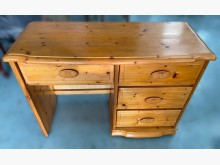 [8成新] E61014G木紋色4抽書桌書桌/椅有輕微破損
