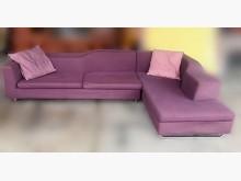 [7成新及以下] 宏品-A3299紫色L型布沙發L型沙發有明顯破損