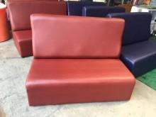 [全新] 全新酒紅色雙人乳膠皮沙發其它沙發全新