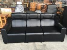 [全新] 全新A324-5黑色3人皮沙發雙人沙發全新