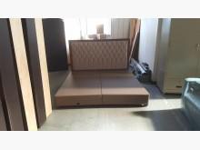 合運二手傢俱~雙人加大皮床箱組雙人床架有輕微破損