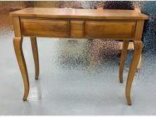 [全新] EA823CJ全新實木二抽玄關桌書桌/椅全新