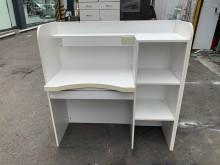 [95成新] 4.2尺烤白吧台接待桌*工作桌電腦桌/椅近乎全新