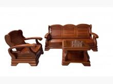 [9成新] A62713*1+3實木椅小茶几木製沙發無破損有使用痕跡
