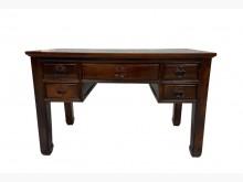 [9成新] GT62716*雞翅木5抽書桌*書桌/椅無破損有使用痕跡