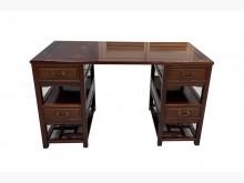 [9成新] RB62717*花梨木4抽書桌*書桌/椅無破損有使用痕跡
