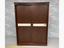 [9成新] A62806*胡桃木5尺滑門衣櫃衣櫃/衣櫥無破損有使用痕跡