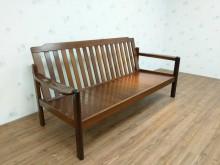 [9成新] 實木休閒三人沙發/公園椅木製沙發無破損有使用痕跡