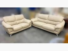 [8成新] B62612*米色半牛皮沙發多件沙發組有輕微破損